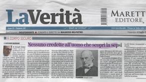 La Verità 14/07/2019 - Nessuno credette all'uomo che scoprì la sepsi