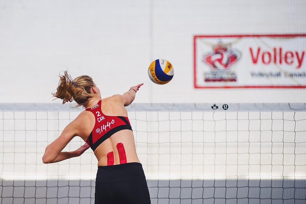 Alexandra Poletto, Lennard Krapp, Volleyball Canada, High Performance Beach Volleyball, Mikasa, FIVB, beach volleyball, vollei
