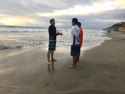 Explaining Baptism.
