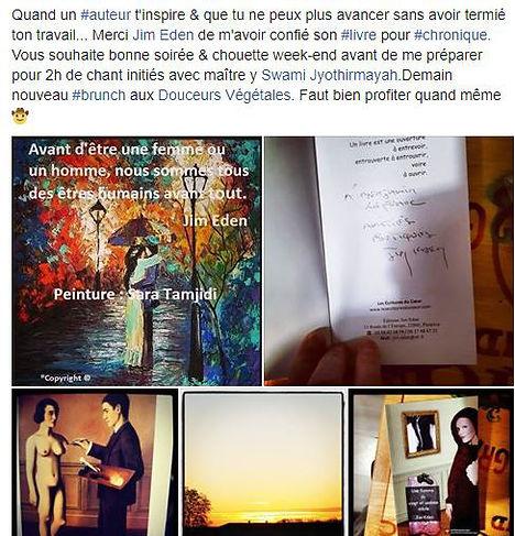Chronique Les Écritures du Cœur Jim Eden www.lesecritursducoeur.com/accueil