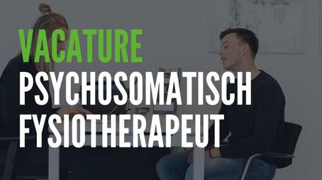 Vacature psychosomatisch fysiotherapeut