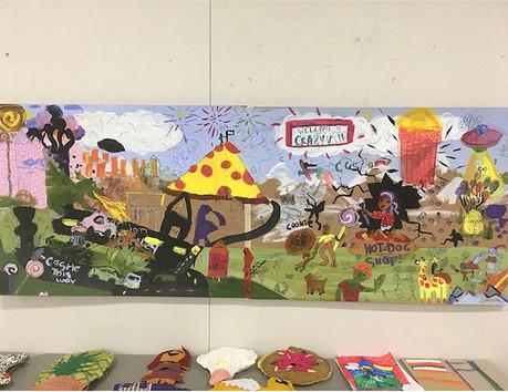 "collaborative kid's ""mural"""
