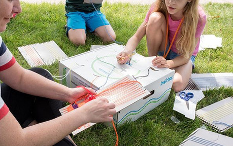 Loom weaving Activity with kids