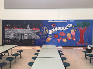 Youth Collaborative Mural at The Juvenile Justice Center in Mount Clemens Michigan