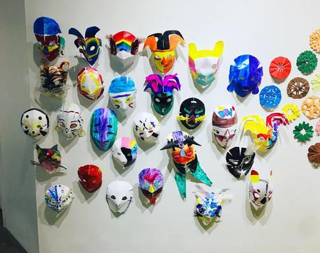 mask-making youth workshop
