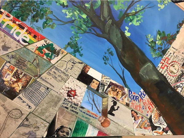 Collaborative Painting with Students at Mount Clemens Highschool