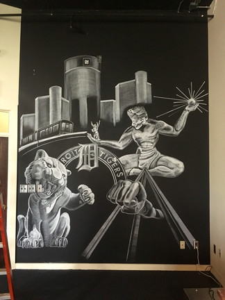 Commisioned chalk mural