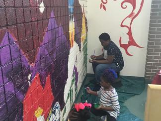 Collaborative Children's Library Mural