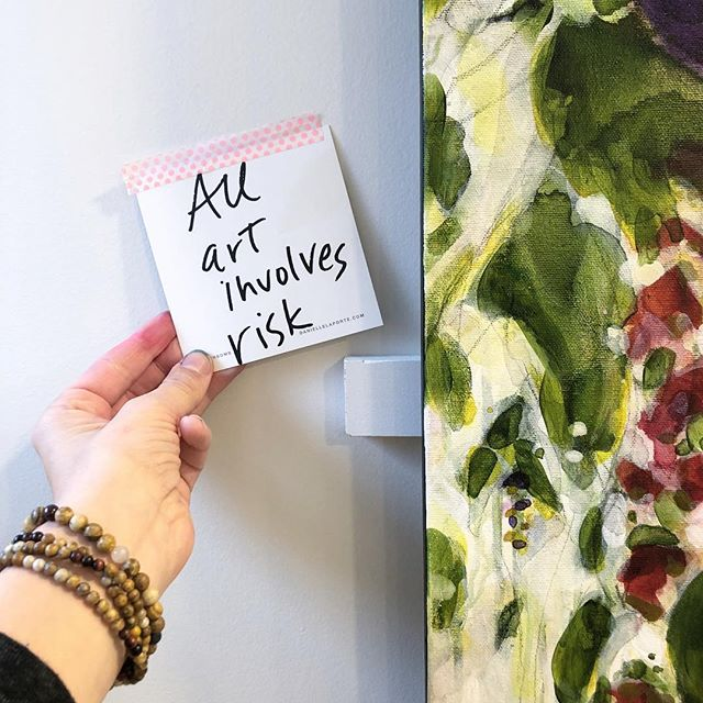"""All art involves risk"" •__This quote wo"