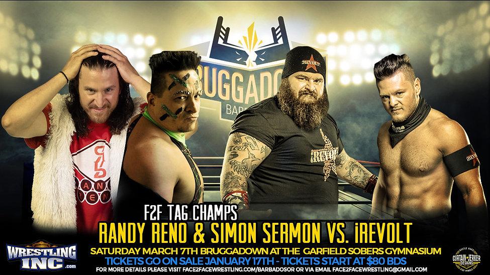 Reno sermon vs iRevolt- F2F Wrestling Br