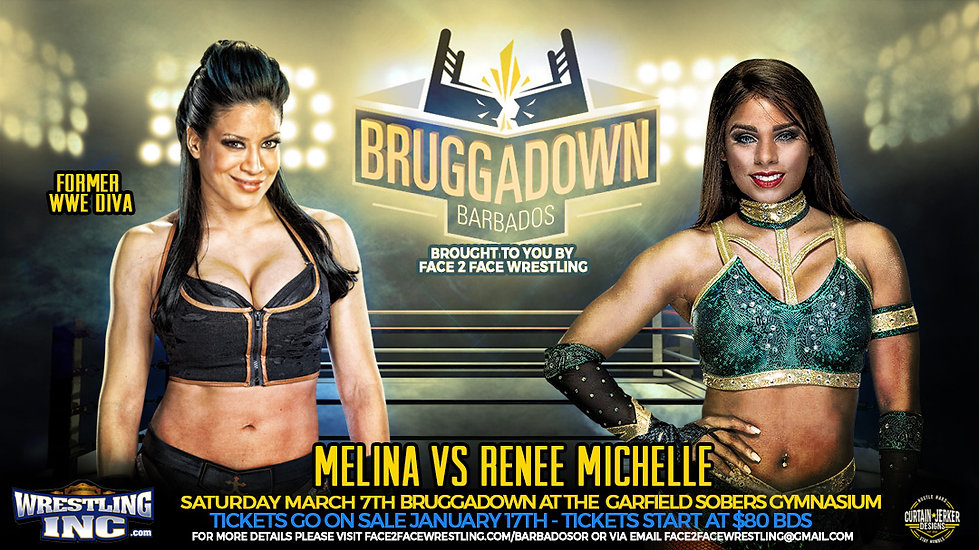Melina vs Renee Michelle  - F2F Wrestlin