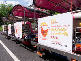 Tuk tuk ads ask McDonald's to treat animals better