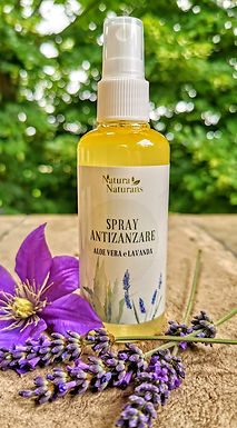 SPRAY ANTIZANZARE   CON ALOE    E   LAVANDA  ML 100