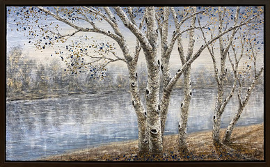 Birches on Long Lake