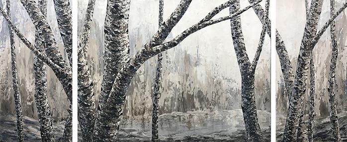 Misty Morning - Triptych