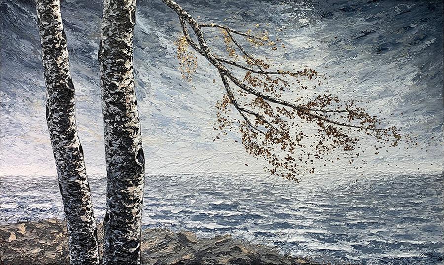 Birches-at-Lake-Superior-by-Gerd-Schmidt