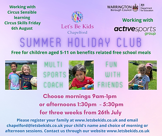 Chapelford HAF Summer Holiday Club Flyer 2021.png