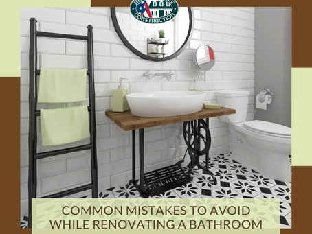Mistakes to avoid while renovating a bathroom