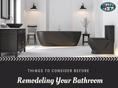 Things to consider before you decide on remodeling your bathroom