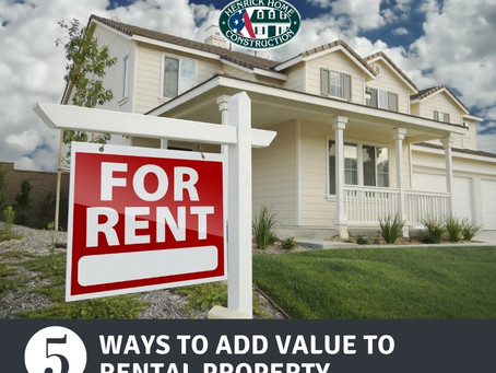 5 Ways to add value to rental property