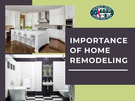 Is remodeling really that important?