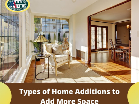 Types of Home Additions to Add More Space