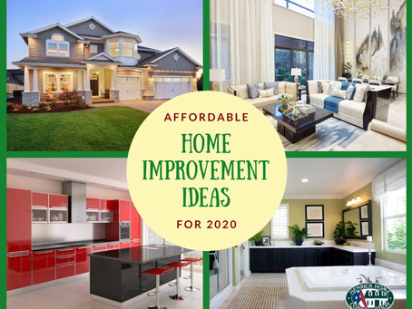 Affordable Home improvement ideas for 2020