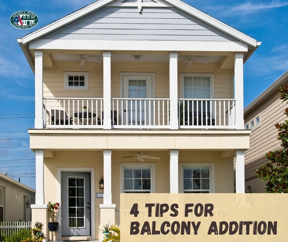 4 Tips For Balcony Addition