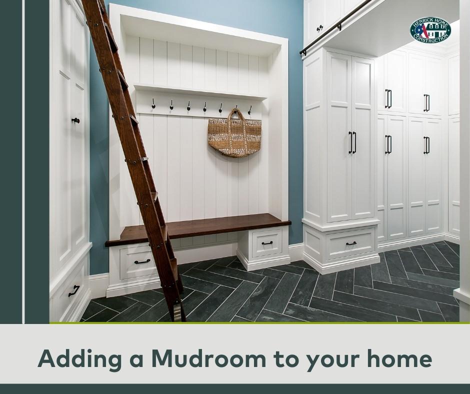 Advantages of Adding a Mudroom