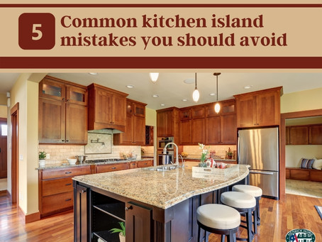 5 Common kitchen island mistakes you should avoid