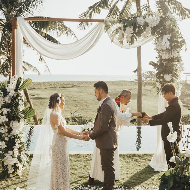 Bali Wedding - Tropical White