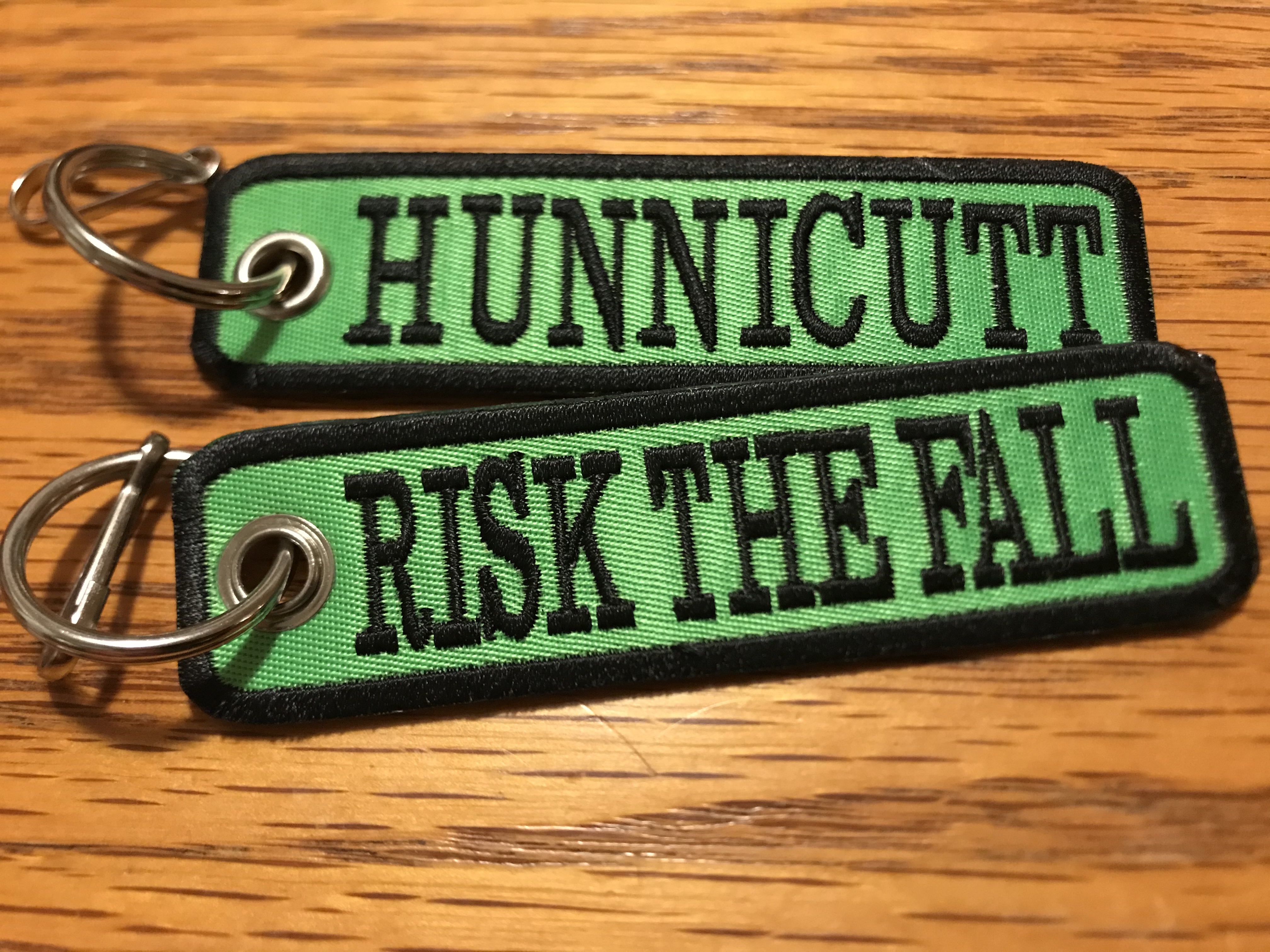 NEW!!! Risk the Fall Keychains