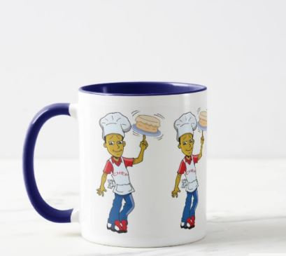 Chef Cake Mug (Blue)