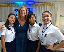 San Bartolo Library opening three girls.