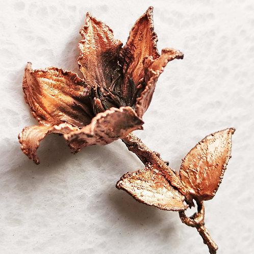 Fleur de clématite    broche
