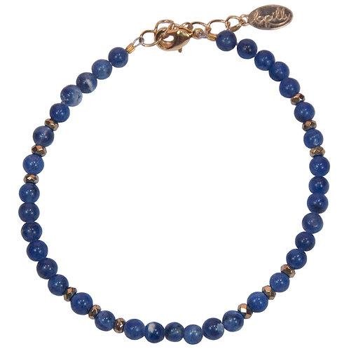Bracelet sodalite, hématite facettée