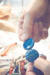 pierres semi-précieuses, fait main, piéce unique
