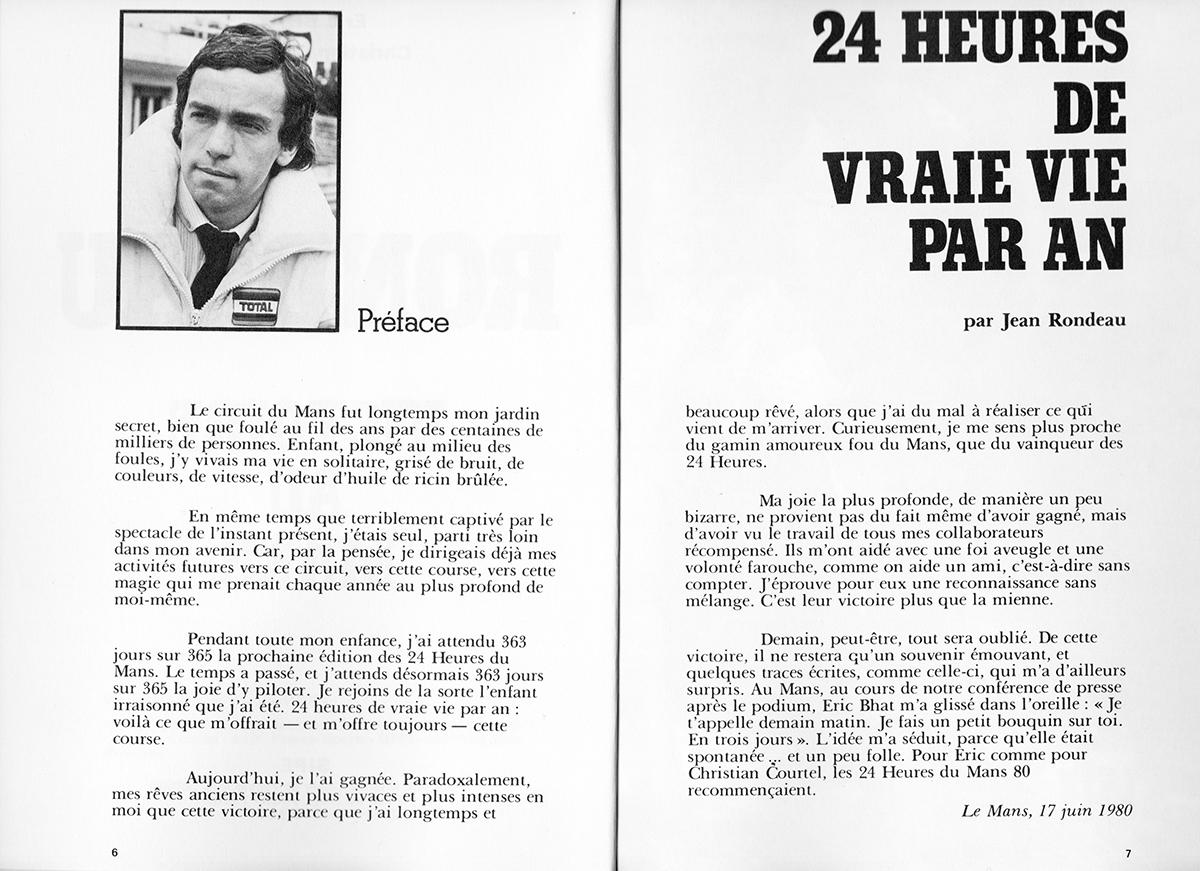 RONDEAU - Victoire au Mans 1980