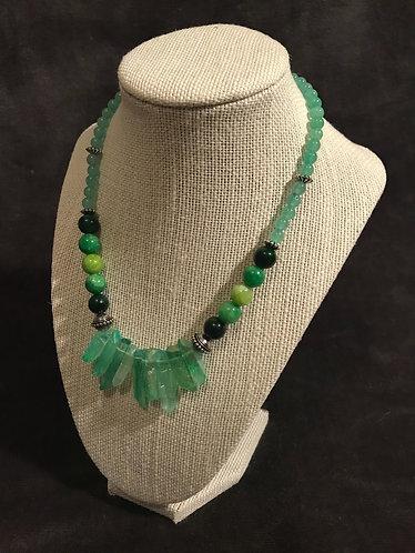 Wintergreen Crystal Quartz Necklace