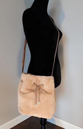 Faux Fur Crossbody Bag - Tan