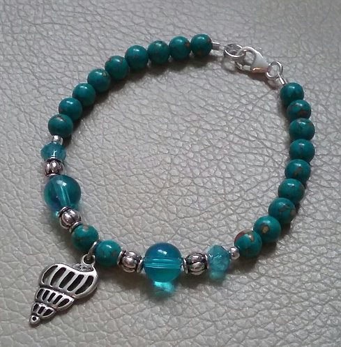 Turquoise Seashell Bracelet