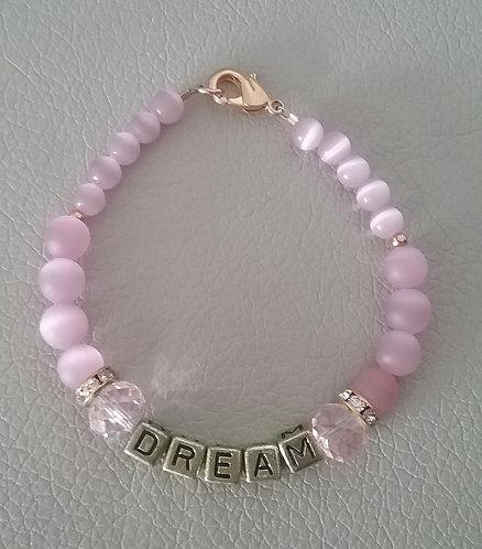 Pink Cats Eye DREAM Bracelet