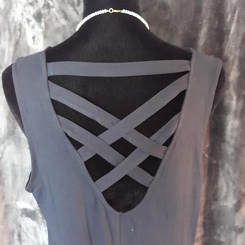 Criss-Cross Back Dress/Tunic - Black