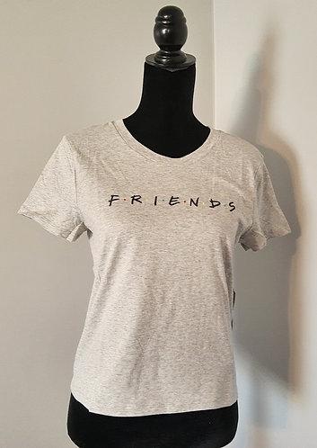 FRIENDS Slim-Fit Tee - Heather Gray (JR SM-MED)