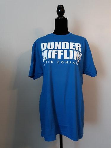 Dunder Mifflin Tee - Royal Blue - CLEARANCE