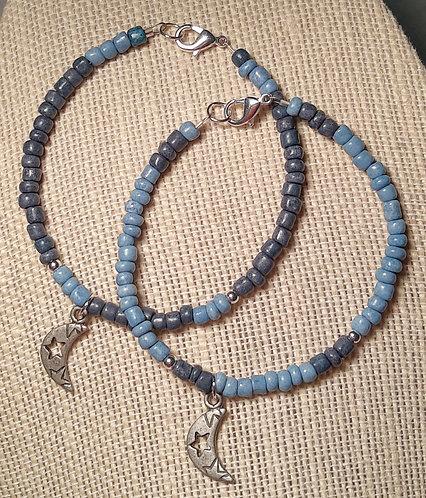 Buddy Bracelets - MOON (Lt Blue & Dk Blue)