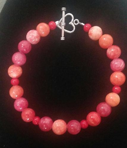 Red-Orange Quartzite Bracelet