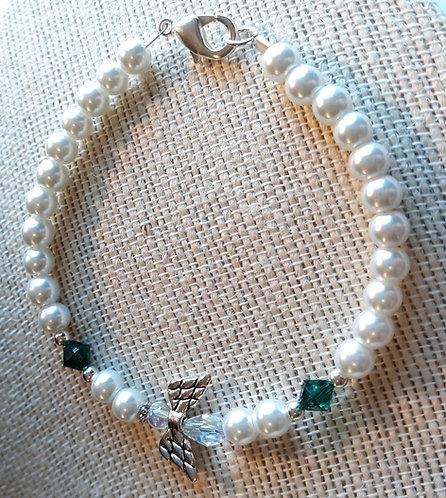 Angel Wing Birthstone Bracelet - May