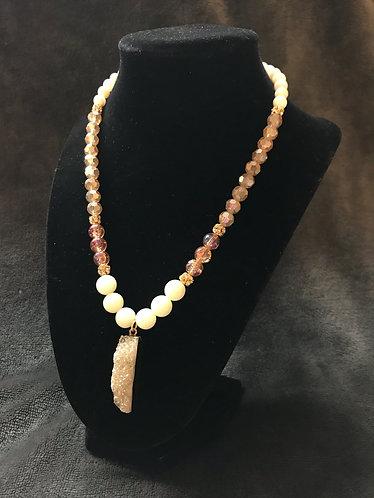 Winter Sparkle Druzy Pendant Necklace
