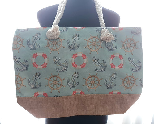 Large Beach Tote - Anchors